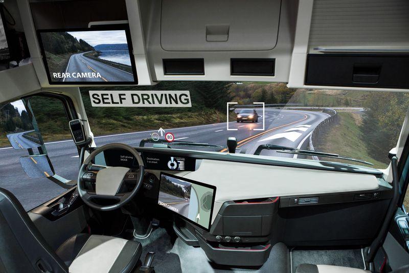 Inner view of self-driving car